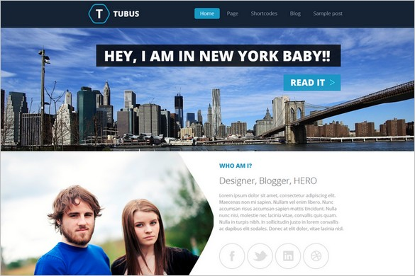 Tubus is one of many Elegant WordPress Themes from Themes4all