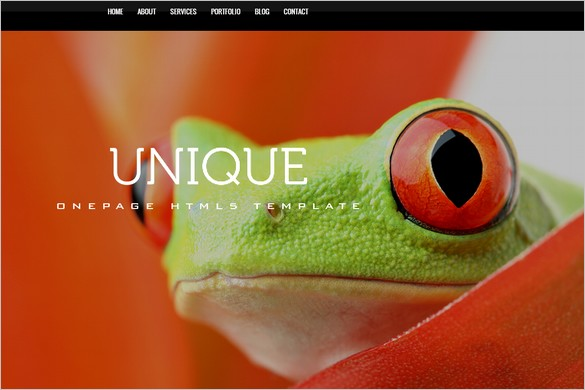 One Page WordPress Themes - Unique