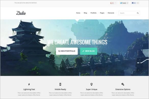 Outstanding WordPress Themes - Ztudio