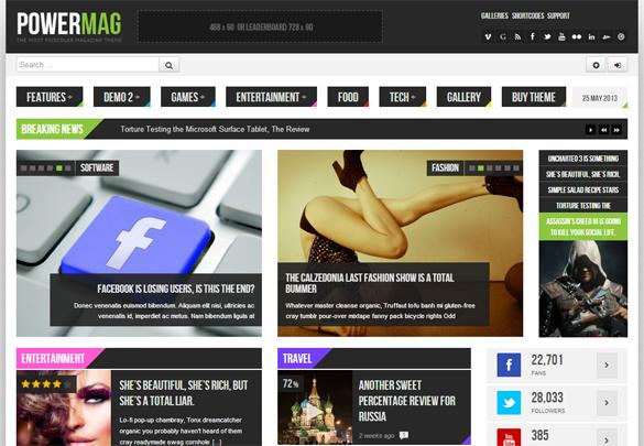 PowerMag WordPress Theme