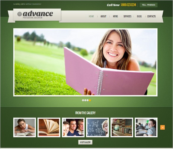 Educational Website - Advance