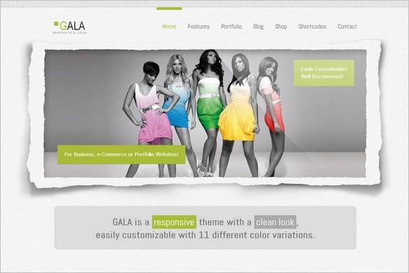 Top Selling WordPress Themes - Gala