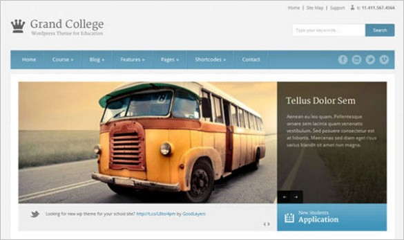 Educational Website - Grand College