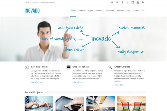 Best Selling WordPress Themes - Inovado