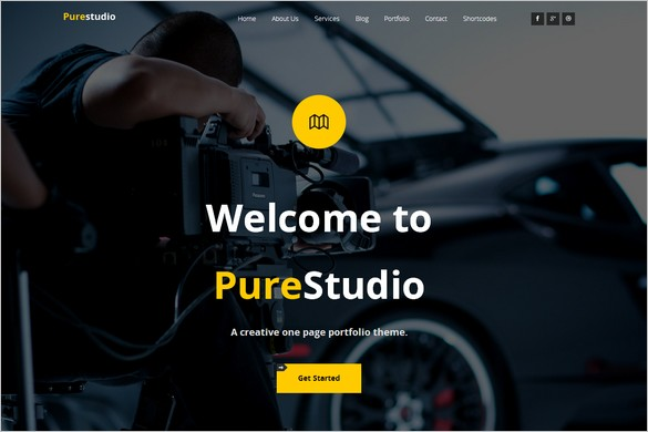 One Page WordPress Themes - Purestudio