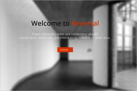 One Page WordPress Themes - Reversal