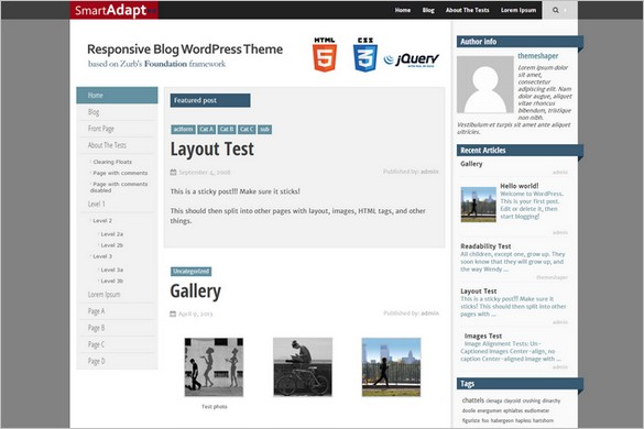 Best Free WordPress Themes - SmartAdapt