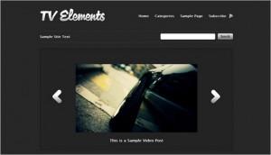 WordPress Video Themes - TV Elements