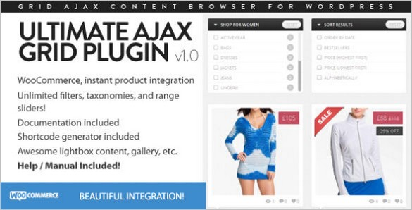 WordPress plugins - Ultimate Ajax Grid Plugin