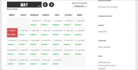 WordPress Plugins - WP Booking Calendar