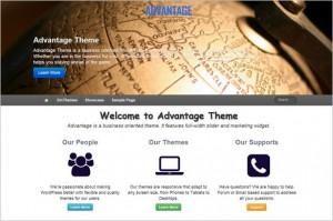 New Free WordPress Themes - Advantage