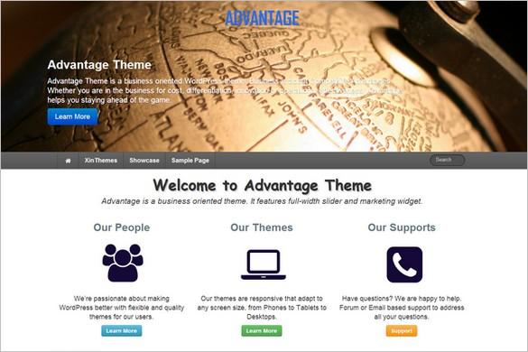 Free WordPress Themes - Advantage