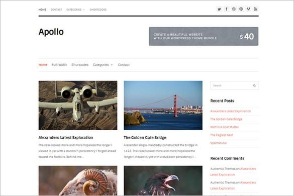 Best Free WordPress Themes - Apollo