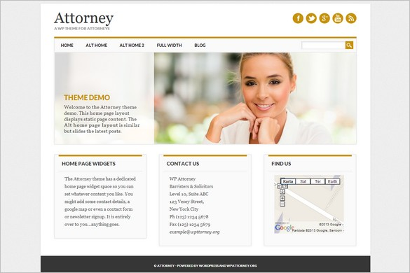 New Free WordPress Themes - Attorney