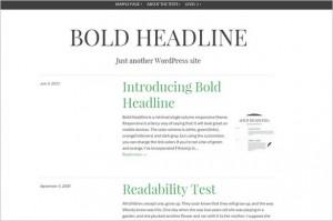 WordPress Themes with Minimalist Design - Bold Headline