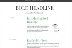 Exciting WordPress Themes - Bold Headline