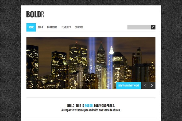 Best Free WordPress Themes - BoldR Lite