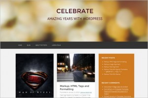 Exciting WordPress Themes - Celebrate