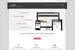 Free Exciting WordPress Themes - Corpo