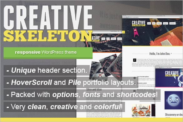 Funkiest WordPress Themes - Creative Skeleton