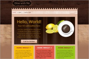 Free Exciting WordPress Themes - Dine With Me