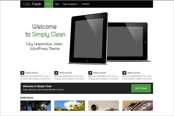 Free WordPress Themes - Eden Fresh