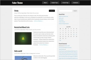 Free Exciting WordPress Themes - Faber