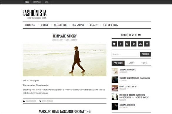 Free WordPress Themes - Fashionista