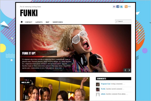 Funkiest WordPress Themes - Funki WordPress Theme