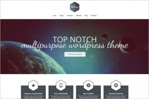 Typography WordPress Themes - Galaxy