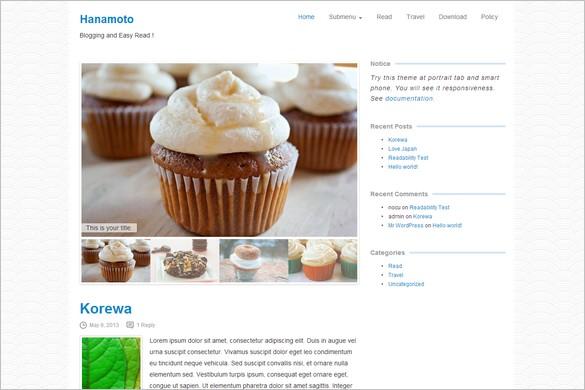 Free Outstanding WordPress Themes - Hanamoto