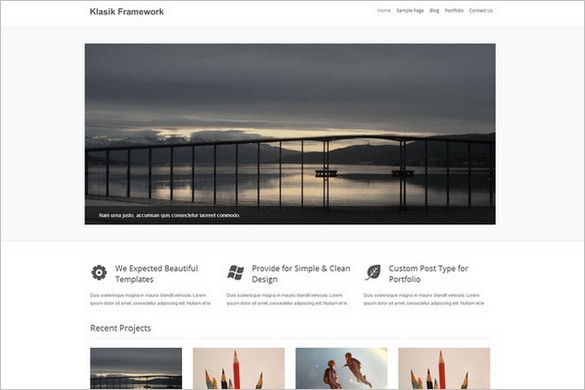 Free Exciting WordPress Themes - Klasik Framework