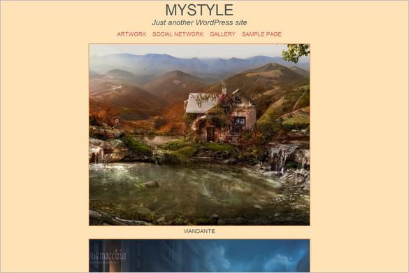 Free Outstanding WordPress Themes - Mystyle