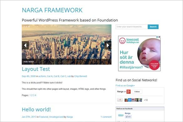 Free Outstanding WordPress Themes - NARGA