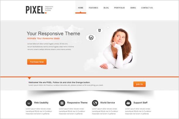 Typography WordPress Themes - Pixel
