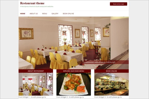 Free Outstanding WordPress Themes - Restaurant