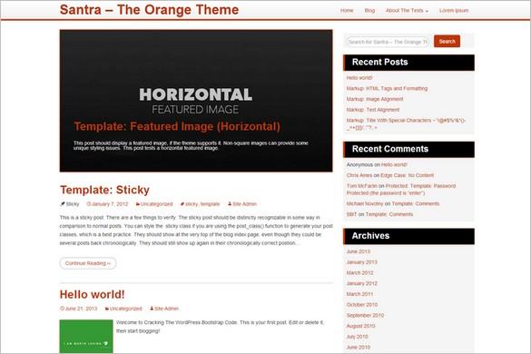 Free Outstanding WordPress Themes - Santra