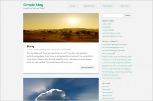 Free Exciting WordPress Themes - Simple Mag