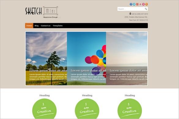 Free Outstanding WordPress Themes - SketchMini