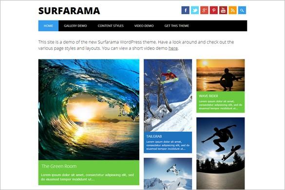 Free WordPress Themes - Surfarama