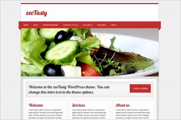 Free WordPress Themes - zeeTasty