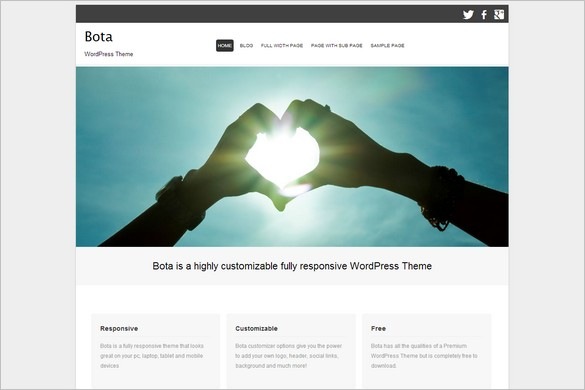 Free WordPress Themes - Bota