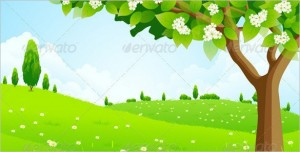 Free Awesomeness - Green Landscape with Tree
