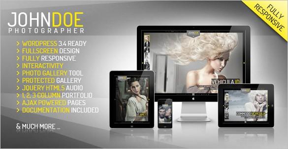 Eye-Catchy WordPress Themes - J.Doe
