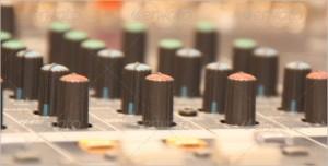 Audio Mixing Desk Knobs & Controls Image