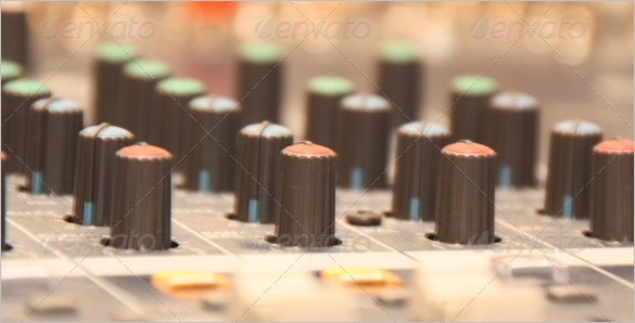 Audio Mixing Desk Knobs & Controls Image