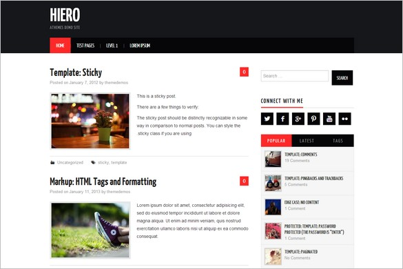 Exceptional and Free WordPress Themes - Hiero