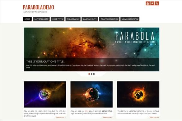 Exceptional Free WordPress Themes - Parabola