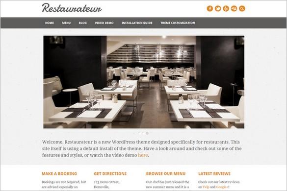 Restaurateur Free Restaurant WordPress Theme