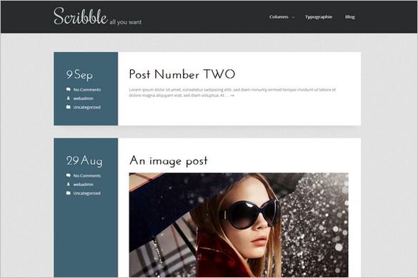 Scribble - A Free WordPress Theme from 7Theme